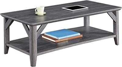 Convenience Concepts Winston Coffee Table, Weathered Gray