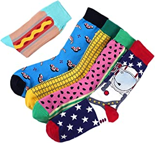 Moyel Mens Novelty Socks, Crazy Funny Fun Cool Dress Socks, Golf Gifts For Men
