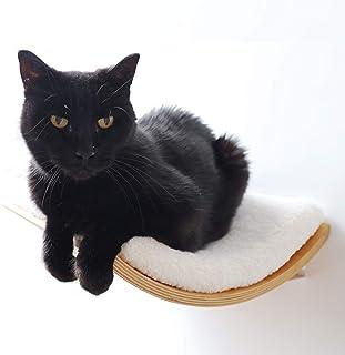 Akemi Tanaka Curve Modern Bentwood Wall-Mounted Cat Perch Cat Window Seat Cat Shelf