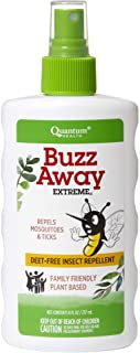 Quantum Health Buzz Away Extreme - DEET-free Insect Repellent, Essential Oil Bug Spray - Small Children and Up, Travel Fri...