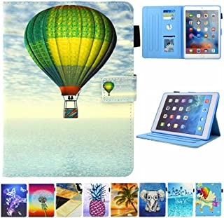 JZCreater Case for iPad Pro 9.7 2016- Kickstand Flip Wallet Case with Auto Sleep/Wake Leatherette Protective Case Cover, Fire Balloon