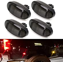 iJDMTOY Smoked Lens Amber/Red Full LED Trunk Bed Marker Lights Set For 2011-up Ford F250-F550 Super Duty Truck Double Wheel Side Fenders, Powered by Total 48 LED