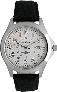 Peugeot Mens 24 Hour Army Military Stainless Steel Bracelet Watch Ideal For Expedition 1017M