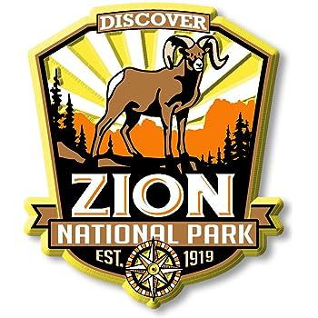 """ZION National Park USA Fridge Magnet Travel Souvenir 3/""""x2/"""" 2 design options"""