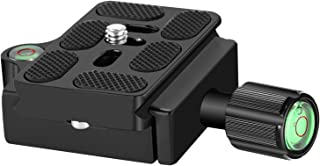 Neewer Black Aluminum Alloy 1/4 inch Quick Shoe Plate Adapter Clamp with 1/4-3/8 inches Screw and Bubble Level for Canon N...