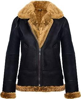 Womens Hooded Sheepskin Jacket B3 Flying Leather RAF Aviator Pilot