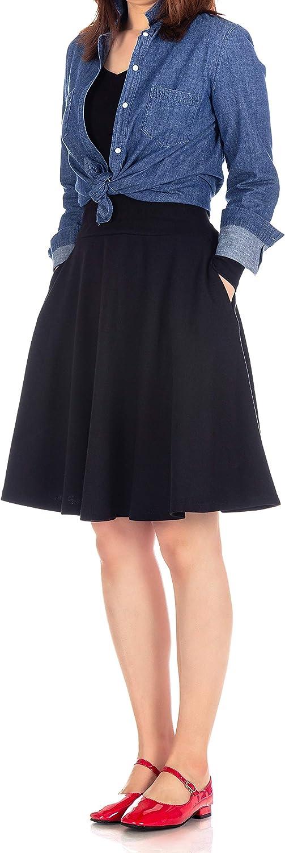 Dani's Choice Comfy and Lovely A-line Full Flared Skater Knee Length Skirt