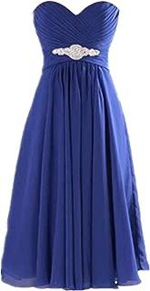 TalinaDress Womens Short Chiffon Sweetheart Bridesmaid Dress Prom Gown E272LF