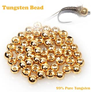 ANGLER DREAM Fly Tying Beads 100 PC/LOT Tungsten Beads Nymph Head Ball Fly Tying Materials 4 Colors