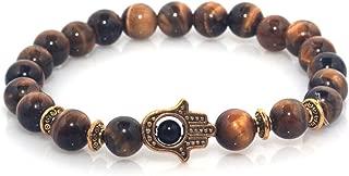 Hand of Hamsa Charm Marble Stone Bracelet
