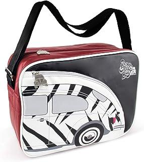 BRISA VW Collection - Stylishe & coole Volkswagen Retro/Vintage Schulter-Umhänge-Reise-Tasche VW Käfer Motiv (Kunstleder)