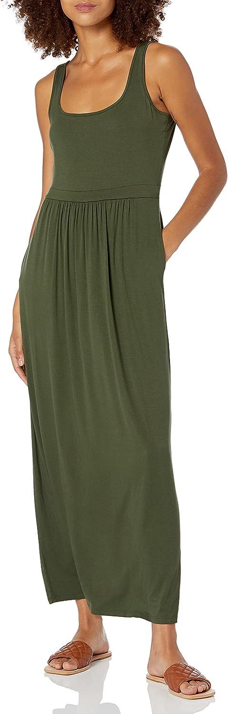 Daily Ritual Women's Jersey Sleeveless Empire-Waist Maxi Dress