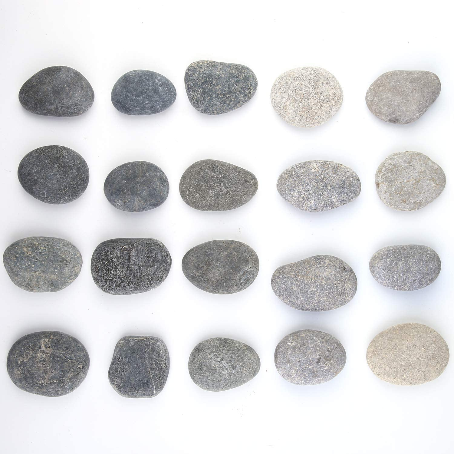 and Decoration Black, Gray Crafts Aneco 24 Pack Painting Rocks Smooth Kindness Painting Rocks Natural Painting Rocks River Rocks for Painting 2 to 3.2 Inches Sea Stones for Arts