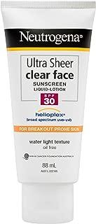 Ultra Sheer Clear Face Sunscreen Lotion SPF30 88mL