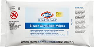 Clorox Healthcare Bleach Germicidal Wipes, 20 Count (31469)