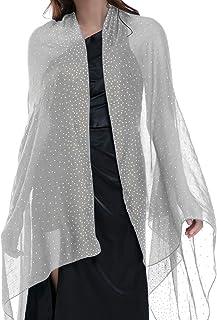 "Banetteta""Starry Night"" Rhinestone Shawls and Wraps for Evening Dresses Wedding Shawl Wrap Shiny Scarf"