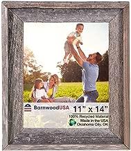 BarnwoodUSA Rustic 11x14 Inch Signature Photo Frame - 100% Reclaimed Wood, Weathered Gray