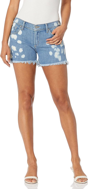 James Jeans Women's Shorty Slouchy Fit Boy Shorts Bleachy Keen