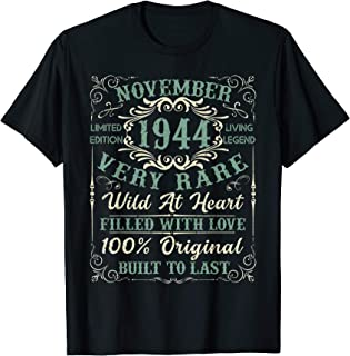 Vintage 1944 November 75th Birthday Gifts 75 Years Old T-Shirt