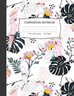 Composition Notebook: Cockatoo College Ruled Lined Journal