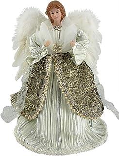 "Santa's Workshop Tree Topper, 3104, 25% Porcelain, 25% Synthetic Hair, 30% Polycotton, Silver/White/Platinum, 16"" Tall"