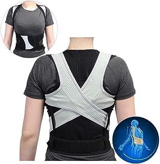 Volver Corrector de postura, enderezar la corrección Cintura de soporte de cintura elástica transpirable ultrafina para hombres y mujeres(L)
