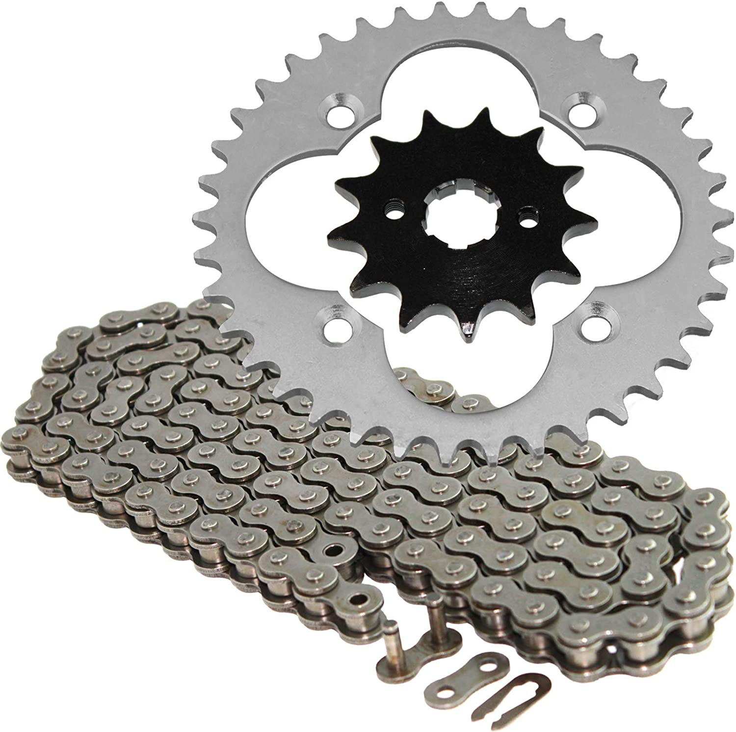 Factory outlet Quantity limited Caltric compatible with Drive Chain TRX2 and Honda Kit Sprockets