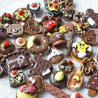 【神話広場】 スイーツ デコ パーツ バラエティ DIY 福袋 クリスマス バレンタイン 100個 セット チョコレート
