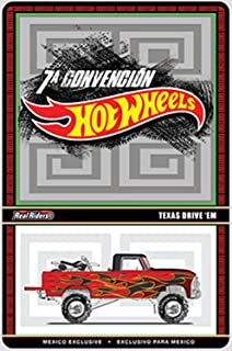 2014 Hot Wheels Red TEXAS DRIVE 'EM Mexico Convention Very Rare Limited Edition 1:64 Scale Collectible Die Cast Car
