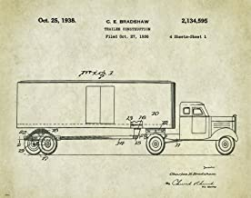 Semi Truck Driver Motivational Patent Poster Art Print 11x14 Toys Parts Wall Decor Pictures