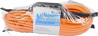 Status 2-Way Heavy Duty Extension Socket - Orange