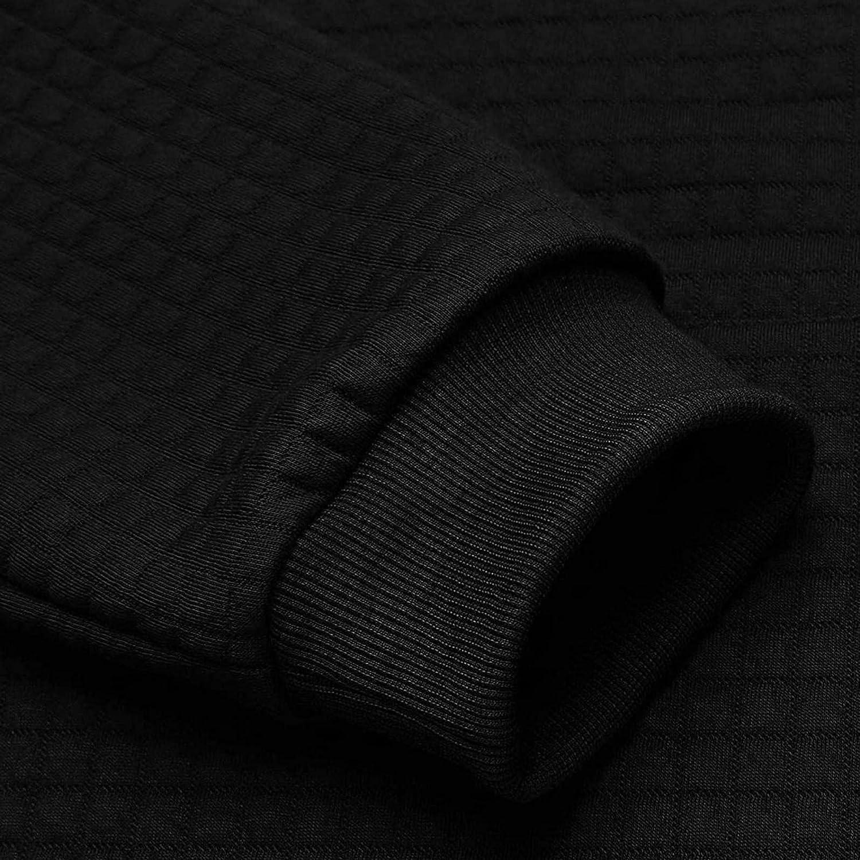 Aayomet Hoodies for Men Pullover Slim Solid Color Plaid Long Sleeve Sweatshirt Hooded Outwear Hoodies Top Blouse
