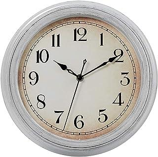 JoFomp Vintage Wall Clock, 12 Inch Silent Non-Ticking Quartz Battery Operated Wall Clocks, Retro Style Decorative Wall Clo...