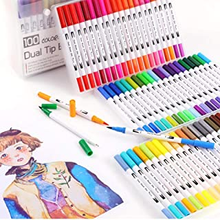 12/18/24/36/48/72/100 Colors Dual Tip Brush Pen, Art Markers, Painting Watercolor Pens School Supplies Coloring Brush Wate...