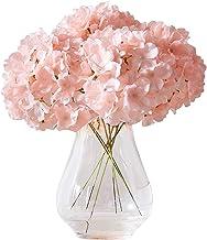 Kislohum Artificial Hydrangea Flowers Blush Heads 10 Fake Hydrangea Silk Flowers for..