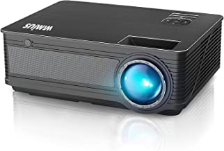 """WiMiUS P18 8000L Upgrade LED Movie Projector 1080P Full HD Support 400"""" Compatible.."""