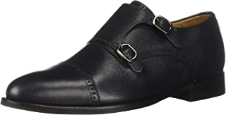 Mens Leather Double Monk Dress Shoe Oxford