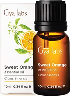 Gya Labs Sweet Orange Essential Oil - Mood Lifter for Stress Relief - Topical Use for Acne Treatment, Glowing Skin & Muscl...