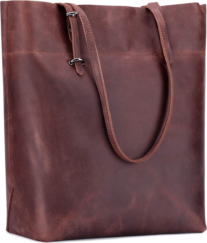 JackChris Women's Bargain sale Leather Work Tote Shoulder Handbags Minneapolis Mall Vintage B
