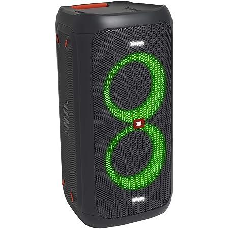 JBL PARTYBOX100 Bluetoothスピーカー ワイヤレス マイク入力/ギターアンプ入力搭載 ブラック JBLPARTYBOX100JN 【国内正規品/メーカー1年保証付き】