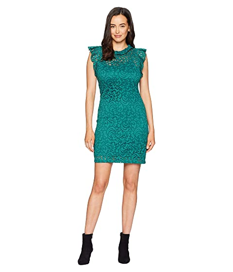 ALEXIA ADMOR Cap Sleeve Lace Sheath, Evergreen