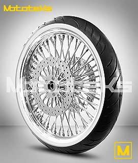 21X3.5 52 Fat Spoke Tubeless Wheel for Harley Touring Bagger fits 2000-2007 (1