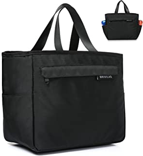 BRIVILAS Stylish Large Insulated Lunch Bags for Women Men Lunch Box Cooler Tote Bag(Black)