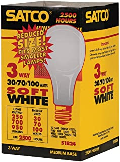 Sylvania Home Lighting 19385 Incandescnet 70W//100W//120W 2850K A21 Incandescent 3-Way Bulb