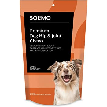 Amazon Brand - Solimo Premium Dog Hip and Joint Supplement Soft Chews with EPA and DHA