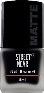 Street Wear Matte Nail Enamel, Rebel Black, 8ml