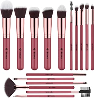 TTRWIN Makeup Brushes Gift Set, 16 Pcs Makeup Brushes Set Professional Premium Synthetic Foundation Face Powder Blush Cont...
