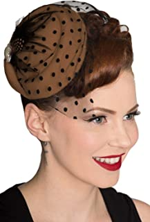 Dancing Days Vintage 40's 50's Fascinator Net Feather All A Dream Wedding Hat