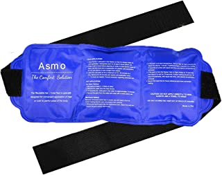 2-in1 Reusable Ice Pack with Strap – Soft, Comfortable & Flexible Gel Ice and Heat Pack – Use for Back, Knee, Shoulder, Arm or Calf Injuries –Stays in Place with Secured Velcro