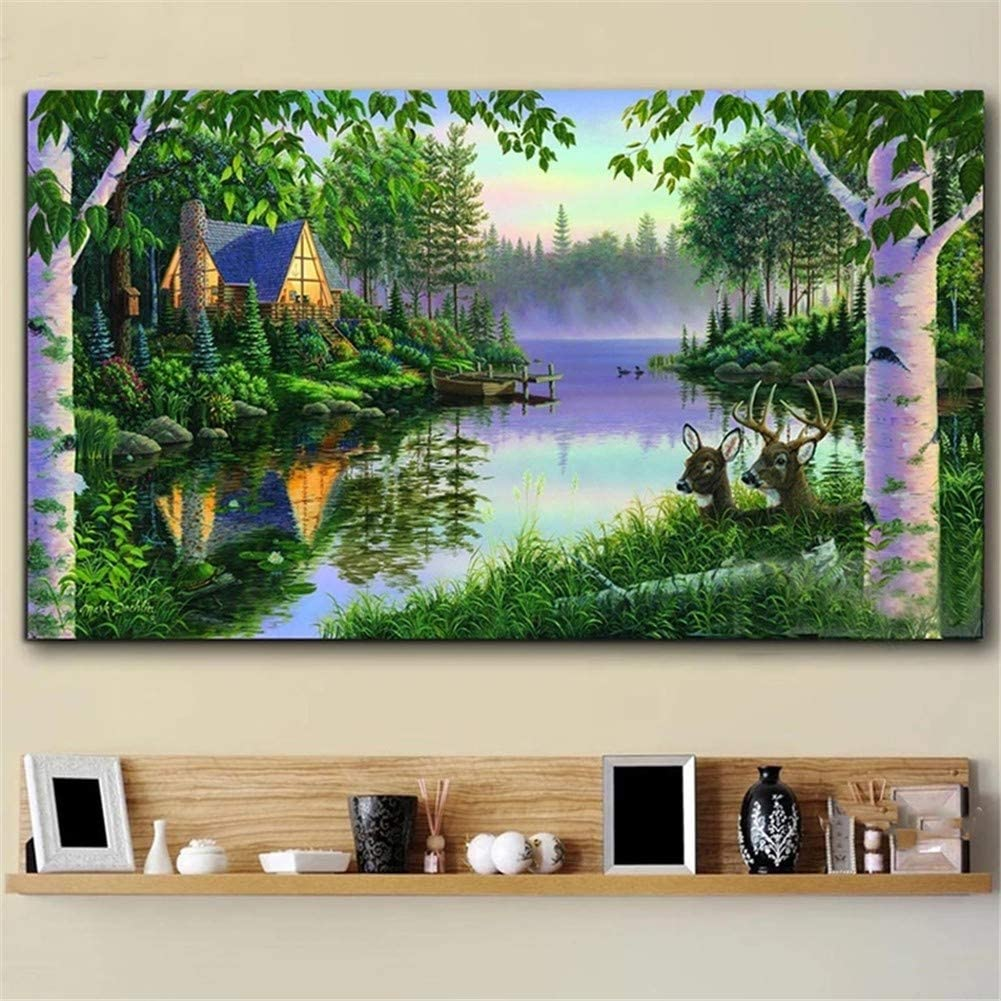 DIY 5D Diamond All items in the store Painting Kits for Paint Complete Free Shipping Green Adults Forest Trees